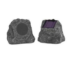 Solar Charge Bluetooth Outdoor Speakers 2 Pc Wireless Waterp
