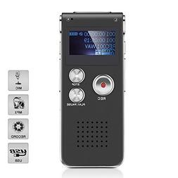 Digital Voice Recorder, 8GB Memory Protable Rechargeable Sou