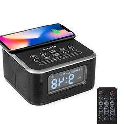 InstaBox W33 Wireless Charging Alarm Clock Radio, Work with