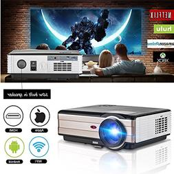 Wifi Wireless Video Projector, Android Projector LCD LED 350