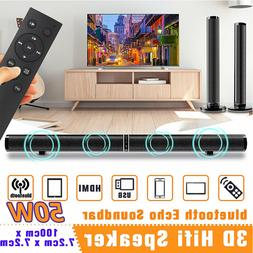 Wired Wireless Bluetooth Speaker Portable 3D Stereo HiFi Sou