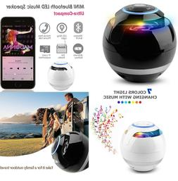 Wireless Bluetooth Speaker Subwoofer Mini Round Portable Mag