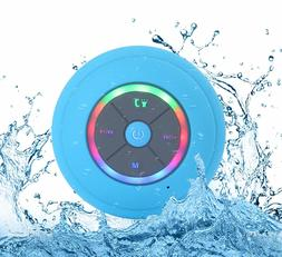 Wireless Bluetooth Speaker Suction Shower Waterproof LED iPh