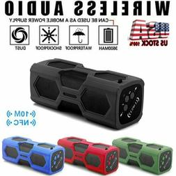 Wireless Bluetooth Speaker Waterproof Outdoor Stereo Bass US