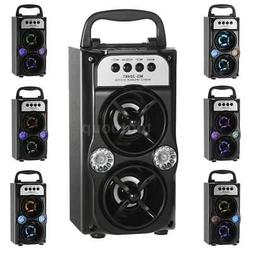Wireless Bluetooth Stereo Bass Speaker LED Party Sound Box T