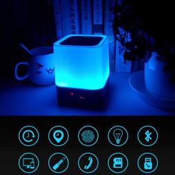 wireless bluetooth touch control speaker with led